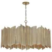 Capital Lighting 333462AD Xavier 6 Light 35 inch Aged Brass Pendant Ceiling Light