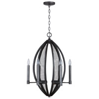 Capital Lighting 333661MG Hera 6 Light 20 inch Midnight Grey Pendant Ceiling Light