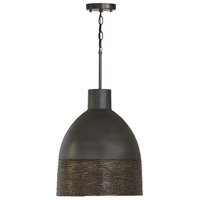 Capital Lighting 335112GI Sana 1 Light 15 inch Grey Iron Pendant Ceiling Light