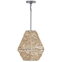 Capital Lighting 335213NY Elijah 1 Light 11 inch Natural Jute and Grey Pendant Ceiling Light