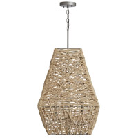 Capital Lighting 335241NY Signature 4 Light 19 inch Natural Jute and Grey Pendant Ceiling Light