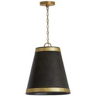 Capital Lighting 335631GB Signature 3 Light 15 inch Galvanized Black and True Brass Pendant Ceiling Light