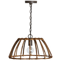 Capital Lighting 335711BY Sanibel 1 Light 19 inch Blazed Rattan and Nordic Grey Pendant Ceiling Light