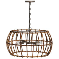 Capital Lighting 335742BY Sanibel 4 Light 24 inch Blazed Rattan and Nordic Grey Pendant Ceiling Light