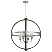 Capital Lighting 335843CM Ashton 4 Light 27 inch Carbon Grey and Matte Nickel Pendant Ceiling Light