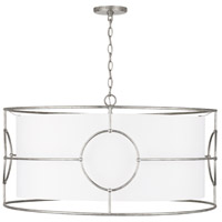 Capital Lighting 337961AS Oran 6 Light 32 inch Antique Silver Pendant Ceiling Light