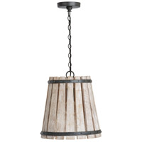 Capital Lighting 340411WN Remi 1 Light 14 inch Brushed White Wash and Nordic Iron Pendant Ceiling Light