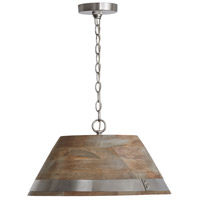 Capital Lighting 340813GN Hugo 1 Light 20 inch Grey Wash and Matte Nickel Pendant Ceiling Light