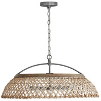 Capital Lighting 340862GK Independent 6 Light 29 inch Grey Wash and Antique Nickel Pendant Ceiling Light