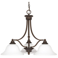 Belmont 3 Light 26 inch Burnished Bronze Chandelier Ceiling Light in Soft White Glass