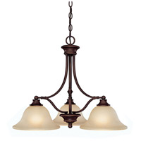 Belmont 3 Light 26 inch Burnished Bronze Island Light Ceiling Light in Mist Scavo Glass