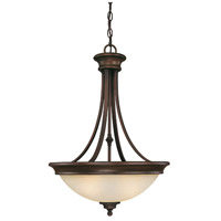 Belmont 4 Light 18 inch Burnished Bronze Pendant Ceiling Light in Mist Scavo Glass
