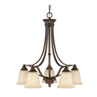 Capital Lighting Belmont 5 Light Chandelier in Burnished Bronze 3416BB-287