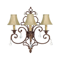 Capital Lighting Seville 3 Light Sconce in Gilded Umber with Crystals 3433GU-419-CR photo thumbnail