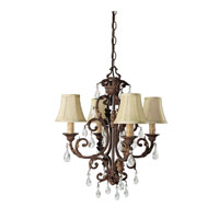 Capital Lighting Seville 4 Light Chandelier in Gilded Umber with Crystals 3443GU-417-CR photo thumbnail