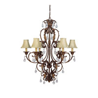 Capital Lighting Seville 6 Light Chandelier in Gilded Umber with Crystals 3446GU-419-CR photo thumbnail