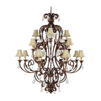 Capital Lighting Seville 16 Light Chandelier in Gilded Umber with Crystals 3450GU-419-CR photo thumbnail