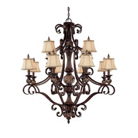 Capital Lighting Manchester 12 Light Chandelier in Chesterfield Brown 3522CB-440