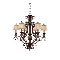 Capital Lighting Manchester 3 Light Chandelier in Chesterfield Brown 3526CB-440 photo thumbnail