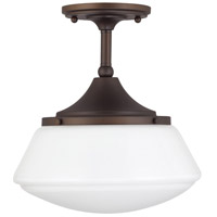 Signature 1 Light 11 inch Burnished Bronze Semi-Flush Ceiling Light