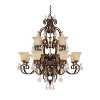 Capital Lighting Grandview 12 Light Chandelier in Dark Spice with Crystals 3542DS-241-CR photo thumbnail