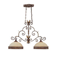 Capital Lighting Grandview 2 Light Island Light in Dark Spice with Rust Scavo Glass 3547DS photo thumbnail