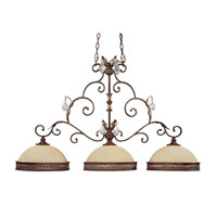 Capital Lighting Grandview 3 Light Island in Dark Spice with Crystals 3548DS-CR photo thumbnail