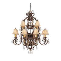 Capital Lighting Grandview 12 Light Chandelier in Dark Spice with Crystals 3552DS-438-CR photo thumbnail