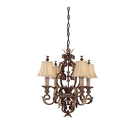 Capital Lighting Grandview 4 Light Chandelier in Dark Spice 3554DS-424 photo thumbnail
