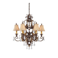 Capital Lighting Grandview 6 Light Chandelier in Dark Spice with Crystals 3556DS-438-CR photo thumbnail
