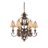 Grandview 6 Light 28 inch Dark Spice Chandelier Ceiling Light