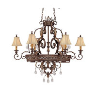 Capital Lighting Grandview 8 Light Island in Dark Spice with Crystals 3557DS-438-CR photo thumbnail