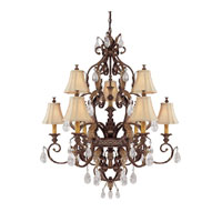 Capital Lighting Grandview 9 Light Chandelier in Dark Spice with Crystals 3559DS-438-CR photo thumbnail