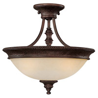 Capital Lighting Hill House 2 Light Semi-Flush Mount in Burnished Bronze with Mist Scavo Glass 3563BB