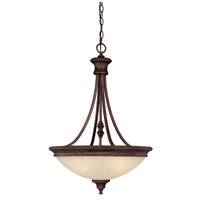 Capital Lighting Hill House 3 Light Pendant in Burnished Bronze with Mist Scavo Glass 3564BB