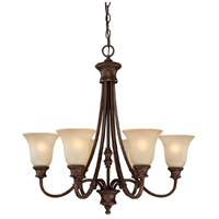 Capital Lighting Hill House 6 Light Chandelier in Burnished Bronze with Mist Scavo Glass 3566BB-252