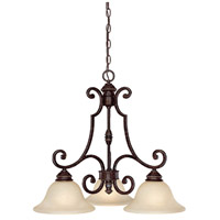 Capital Lighting Barclay 3 Light Island Light in Chesterfield Brown with Mist Scavo Glass 3583CB-259