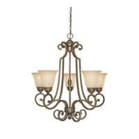 Capital Lighting Barclay 5 Light Chandelier in Creek Stone with Mist Scavo Glass 3585CS-287