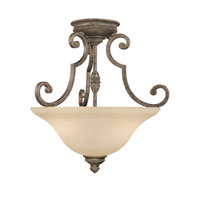 Capital Lighting Barclay 2 Light Semi-Flush Mount in Creek Stone with Mist Scavo Glass 3588CS
