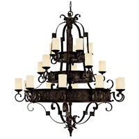 Capital Lighting River Crest 20 Light Chandelier in Rustic Iron with Rust Scavo Glass 3600RI-125