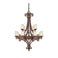 Capital Lighting Squire 12 Light Chandelier in Crusted Umber with Seeded Glass 3652CU-286 photo thumbnail