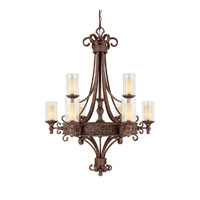Capital Lighting Squire 9 Light Chandelier in Crusted Umber with Seeded Glass 3659CU-286 photo thumbnail
