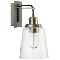 Capital Lighting Signature 1 Light Sconce in Graphite with Aged Brass 3711GA-135