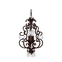 Capital Lighting Signature 3 Light Mini Chandelier in Mediterranean Bronze 3763MZ