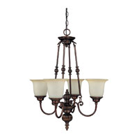 Capital Lighting Avery 4 Light Chandelier in Burnished Bronze with Mist Scavo Glass 3784BB-291