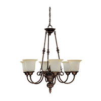 Capital Lighting Avery 6 Light Chandelier in Burnished Bronze with Mist Scavo Glass 3786BB-291 photo thumbnail