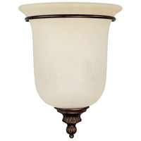 Capital Lighting Avery 2 Light Sconce in Burnished Bronze with Mist Scavo Glass 3787BB