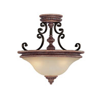 Capital Lighting Foxborough 3 Light Semi-Flush Mount in Iron and Umber with Mist Scavo Glass 3864IU
