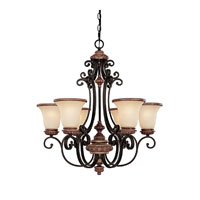 Capital Lighting Foxborough 6 Light Chandelier in Iron and Umber with Mist Scavo Glass 3866IU-252R photo thumbnail