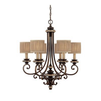 Capital Lighting Park Place 6 Light Chandelier in Champagne Bronze 3886CZ-406